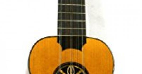 musikalia tiple, acajou, serigraphed, touche en ebene, luthier-crafted