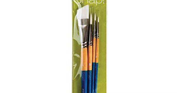 Princeton Snap Gold Taklon Angle Shader 12I PAB96508 Snap Brush