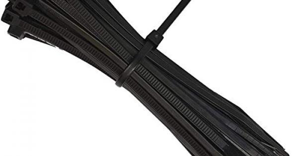Black Cable Zip Ties,400 Packs Self-Locking Nylon CableTies Assorted Sizes 4+6+8+12-Inch,Multi-Purpose Wire Management Ties,Zip Wire Tie Perfect for Home,Garden Trellis,Office,Garage and Workshop
