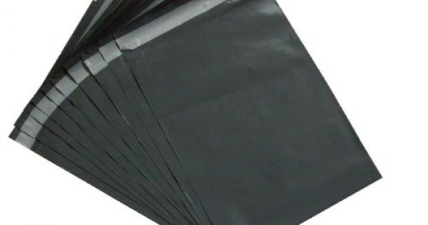 10 BAGS OF 14x16 INCH STRONG POLY MAILING POSTAGE LARGE 60MU SELF SEAL GREY XL