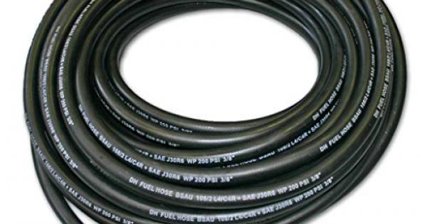 3M 6mm Cotton Over Braided Rubber Petrol Fuel Line Diesel Oil Tubing Hose Pipe